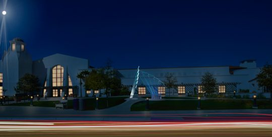 Rendering of in-process public art sculpture for the new Santa Barbara Airport