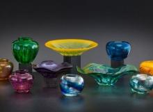 Blown glass by Douglas Lochner