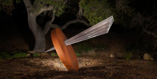 Impact sculpture by Douglas Lochner