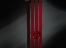 Trinity in red - glass sculpture by Douglas Lochner