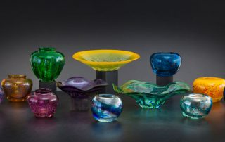 Blown glass by Douglas Lochner