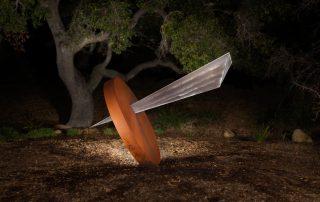 Impact sculpture by Douglas Lochner