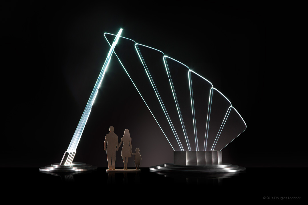 """scale model of """"wings of honor"""" sculpture"""